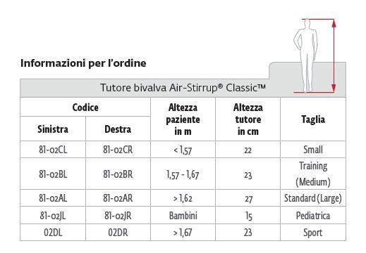 Air-Stirrup® Classic™ - Sport - Cavigliera bivalva