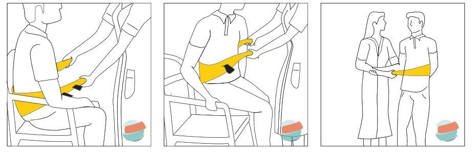 Cintura di trasferimento HERCOLINO con quattro impugnature - Cintura di trasferimento