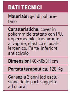 Cuscino antidecubito in gel di poliuretano - Cuscino antidecubito