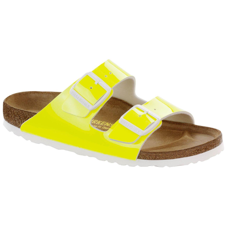 Arizona - Neon Yellow Patent / Birko-Flor vernice - Ciabatte Ortopediche