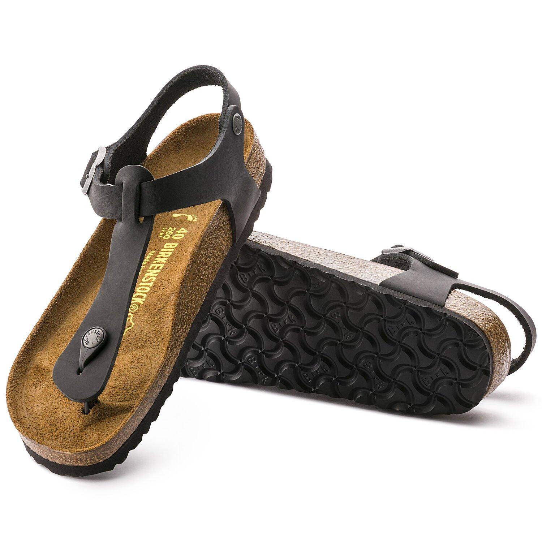 Kairo - Black / Pelle oliata -  Sandali ortopedici