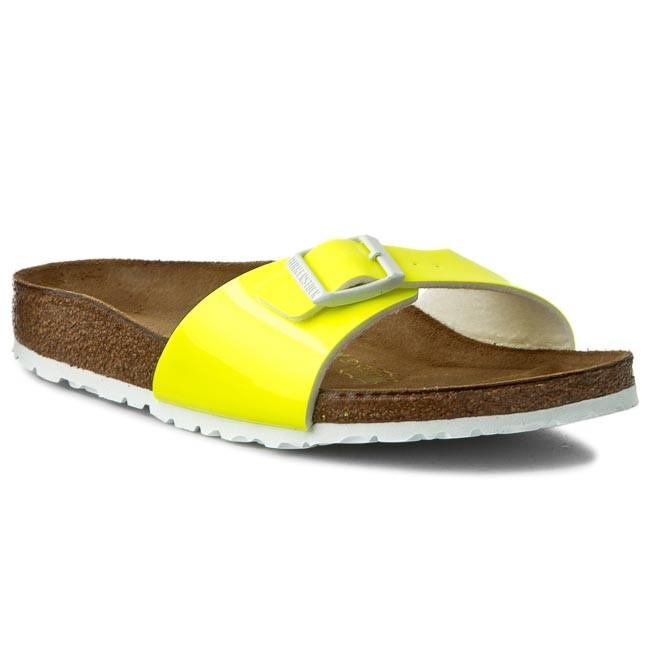 Madrid - Patent Neon Yellow /  Birko-Flor  - Ciabatte Ortopediche