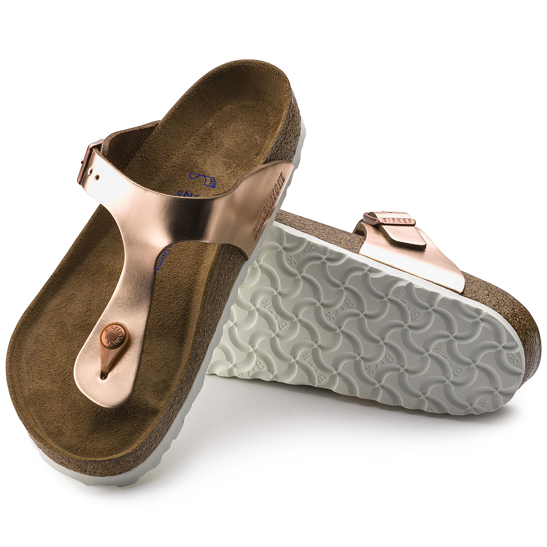 Gizeh - Metallic Copper / Pelle naturale -  Sandali ortopedici