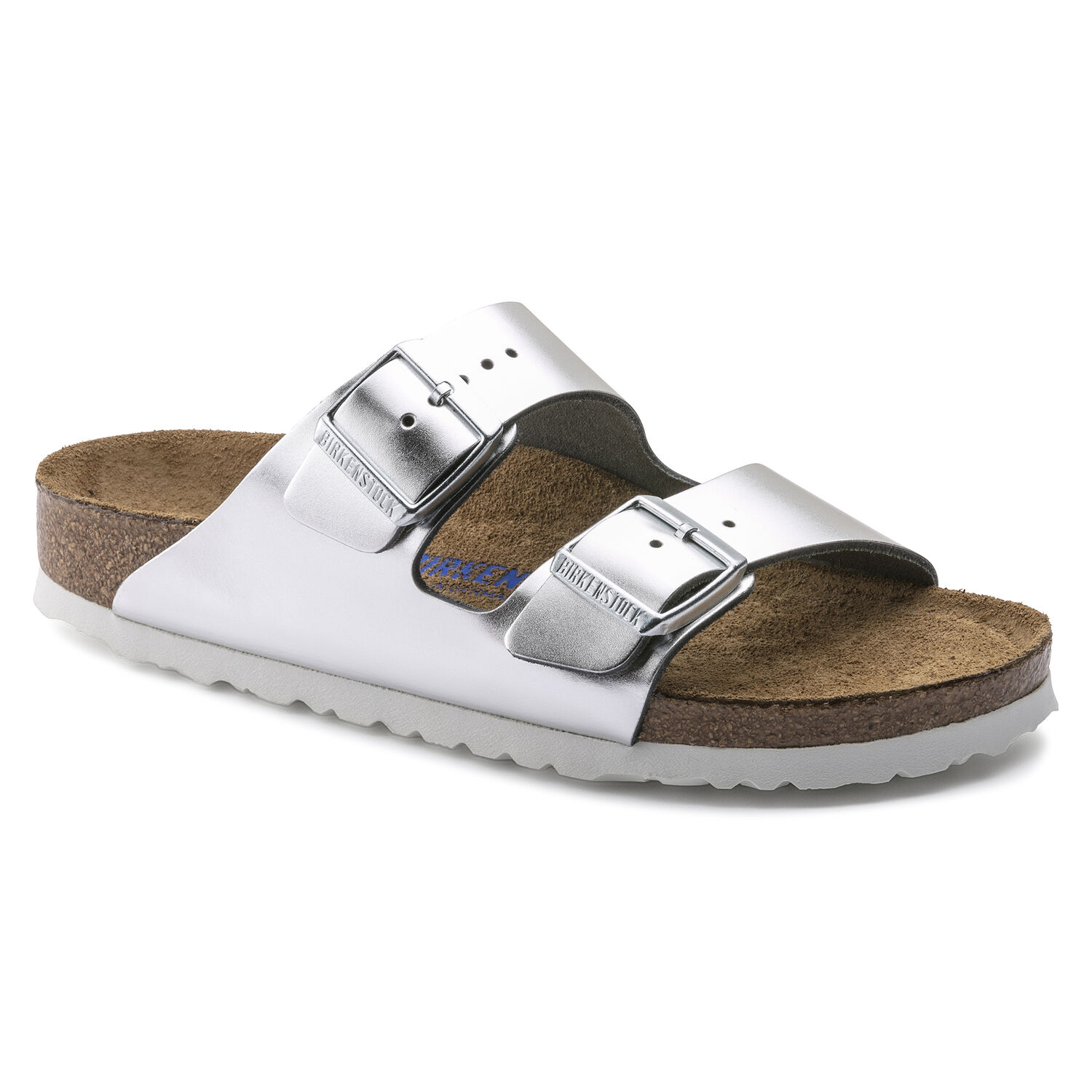 Arizona Soft Footbed - Metallic Silver / Pelle naturale - Ciabatte ortopediche