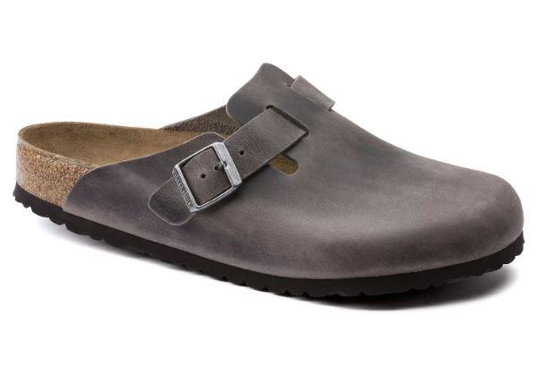 Boston Soft Footbed - Iron / Pelle oliata -  Ciabatte ortopediche