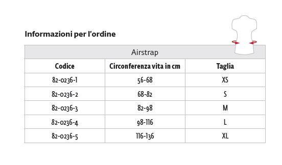 AirStrap ™ - Corsetto lombare