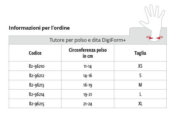 DigiForm+™  - Tutore polso mano