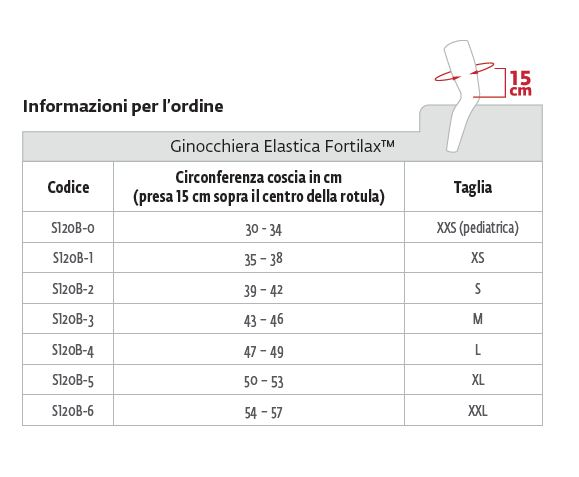 Fortilax™ - Ginocchiera - Ginocchiera elastica