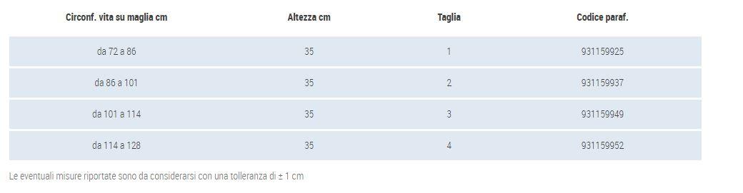 CINTURA ACTION H35 - Corsetto lombosacrale alto