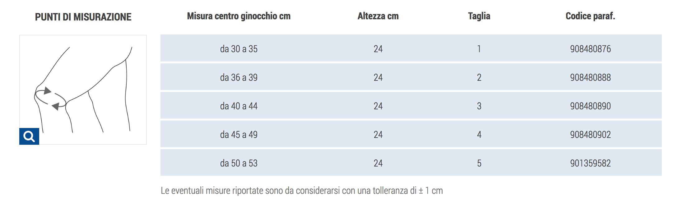 GINOCCHIERA BIESTENSIVA FELPATA CAMEL - Ginocchiera elastica
