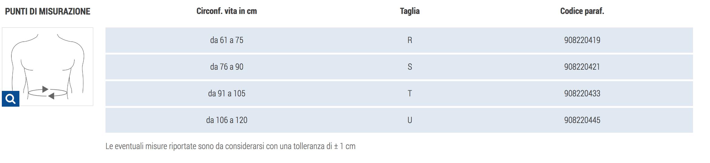 CINTURA SUPPORTFLEX  - Fascia lombare