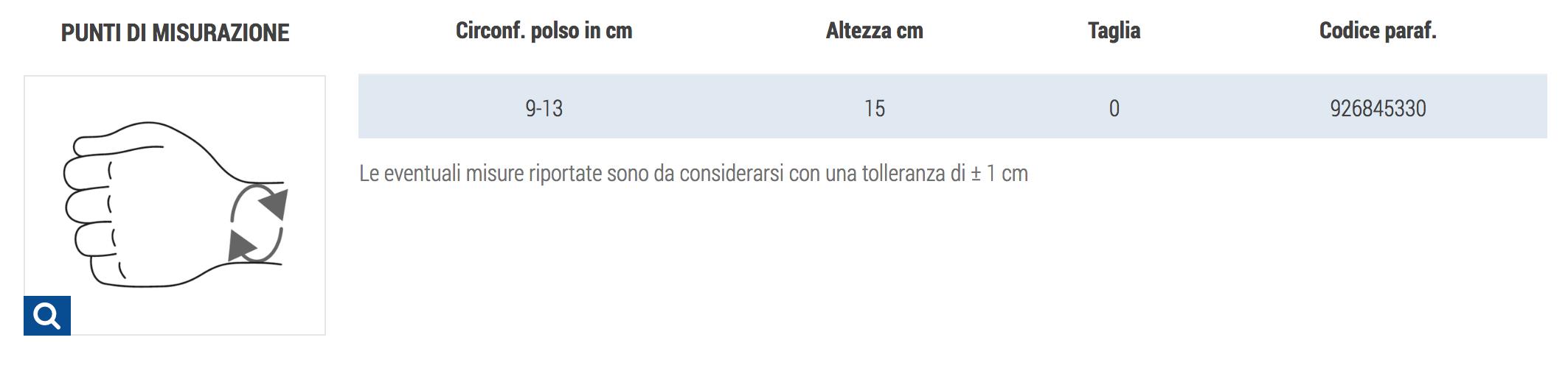 ORTESI POLSO  - LINEA JUNIOR - Tutore polso-mano per bambini