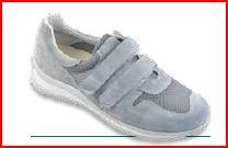 Ebro Velcro Uomo -  Camoscio / Hyper Grigio - Scarpe ortopediche uomo