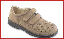 Giove Velcro Forato - Nabuk Noce - Scarpe ortopediche uomo