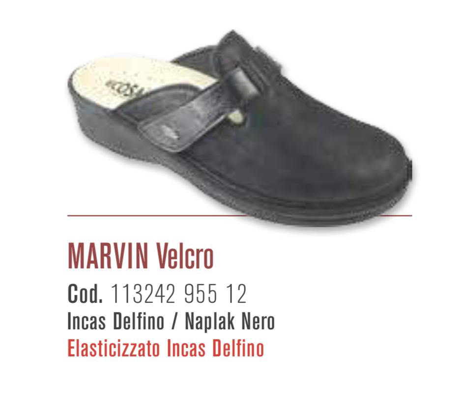 Marvin Velcro - Incas delfino / Naplak nero - Ciabatte ortopediche donna