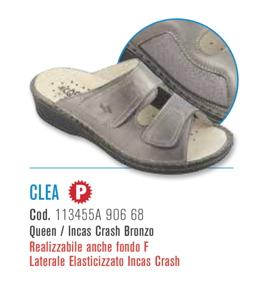 Clea - Queen / Incas Crash bronzo - Ciabatte ortopediche donna