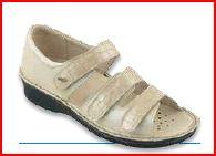 Electra 3 Velcri - Anilmorbido / Cocco Beige - Sandali ortopedici donna