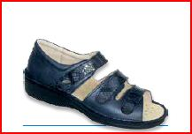Electra 3 Velcri - Anilmorbido / Mamba Blu - Sandali ortopedici donna