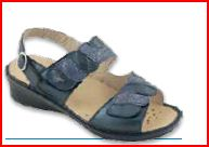Fabienne - F - Light / Dory Blu - Sandali ortopedici donna