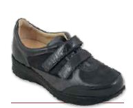 Ambra Velcro - Naplak / Camoscio Antracite - Scarpe ortopediche donna