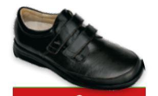 DANTE Velcro -  Incas Nero / Nappa  - Scarpe ortopediche uomo