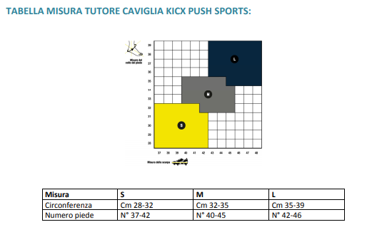 Cavigliera kicx Push sports - Cavigliera