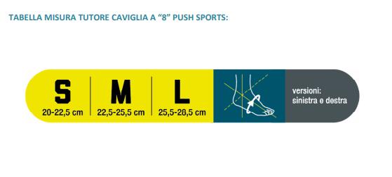 Cavigliera a 8 Push sports - Cavigliera