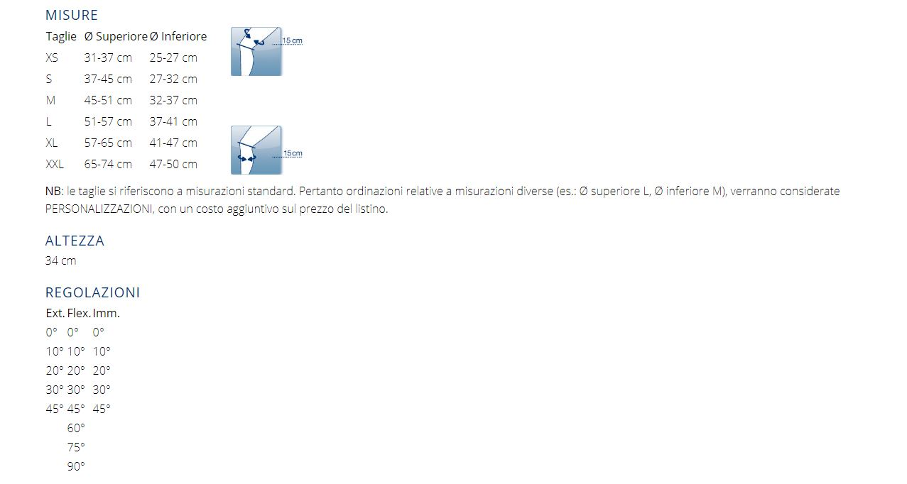 M.4 S SHORT - GINOCCHIERA FUNZIONALE SHORT, 4 PUNTI PER ACL/PCL/CI CON SNODO PHYSIOGLIDE®