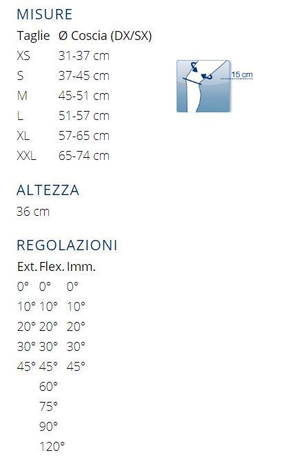PHYLO®  90 PT CONTROL - Tutore articolato per ginocchio post operatorio