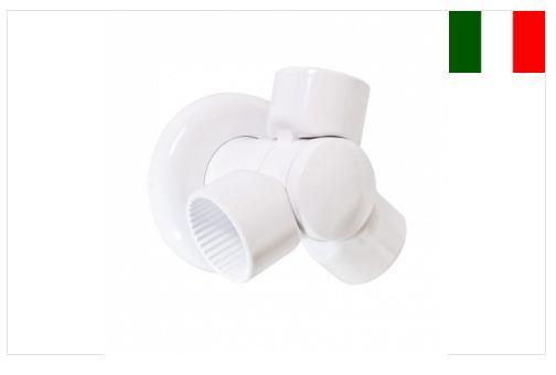 Kit snodo per tubi corrimano rigati - Accessorio - AB-TUBI