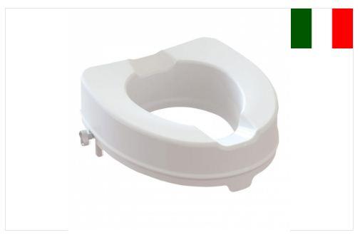 Alzawater anatomico con fissaggi laterali - 10 cm - Rialzo per wc