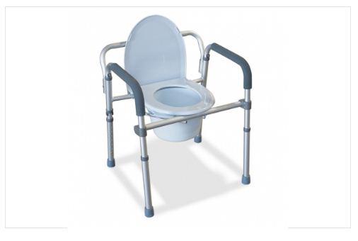 Comoda 4 in 1 pieghevole in alluminio - Sedia comoda wc