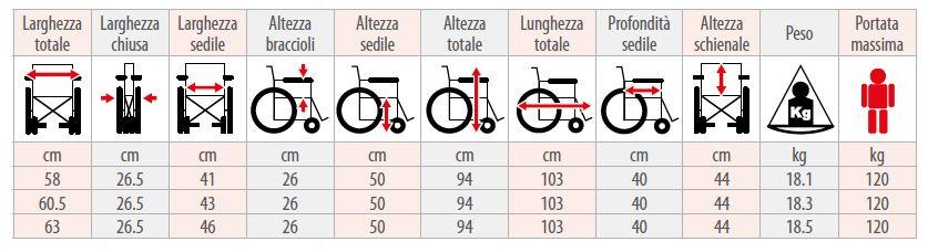 Carrozzina pieghevole - M200 - M12 - M20 - Carrozzina pieghevole
