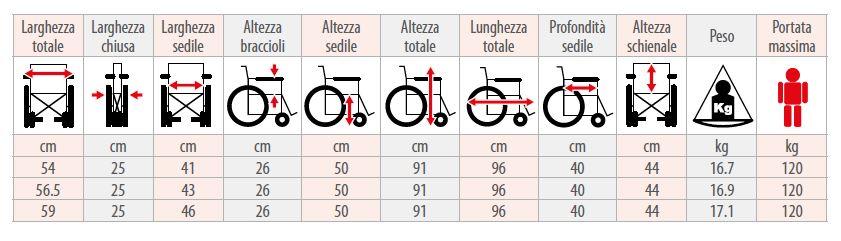 Carrozzina pieghevole - M210 - M12 - M20 - Carrozzina pieghevole