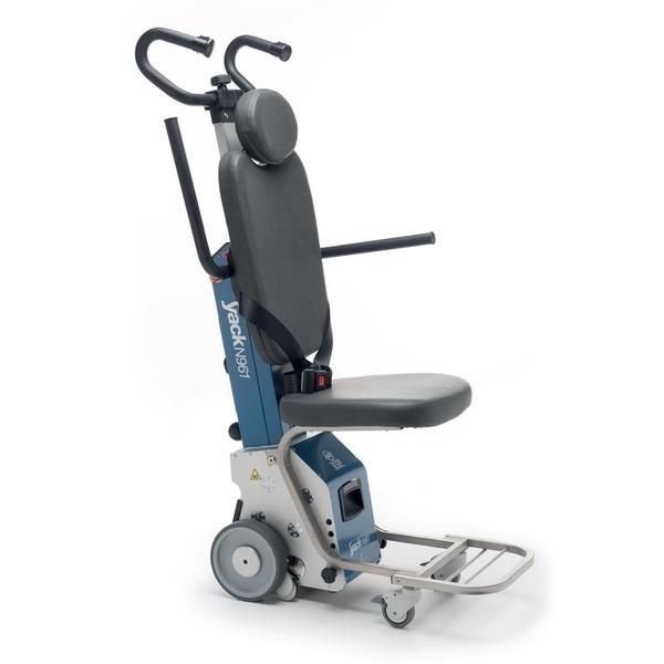 Yack N961H - Montascale a ruote con poltroncina idoneo per scale con altezza gradino max. 26 cm. Portata 120 kg.