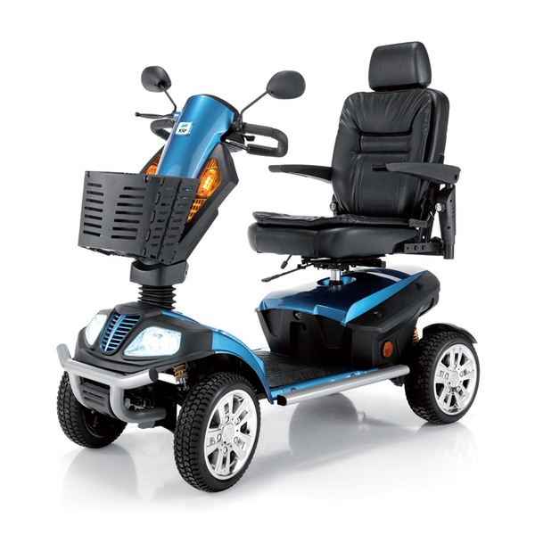 Lion - Scooter elettrico da esterno, massimo comfort, autonomia di 45 km. Portata 158 kg.