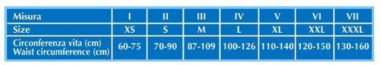 CINTURA UNIVERSAL -  20 cm - Fascia addominale post operatoria