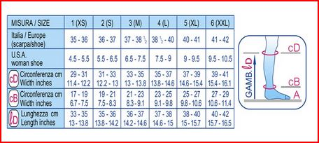 GAMBALETTO 70 DENARI - VISONE  - Gambaletti compressione graduata