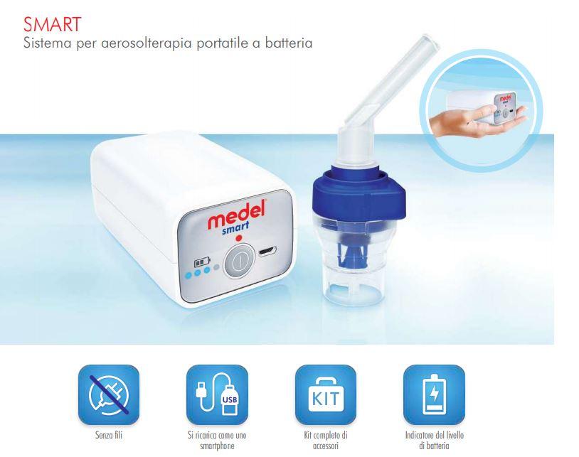 MEDEL SMART - Sistema per aerosolterapia portatile a batteria