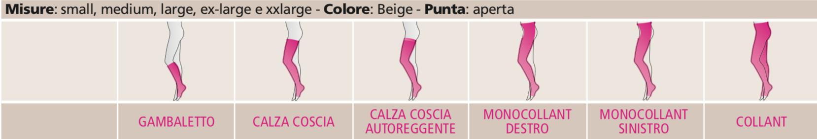 duomed - Calza coscia autoreggente - Autoreggenti compressione graduata