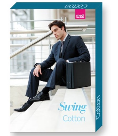 Linea Preventiva Swing Man - Gambaletto Cotton med - Calze compressione graduata uomo