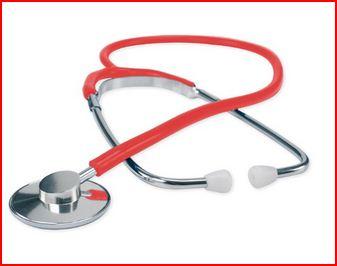 FONENDOSCOPIO CON TESTA IN ALLUMINIO - Rosso - Fonendoscopi e stetofonendoscopi