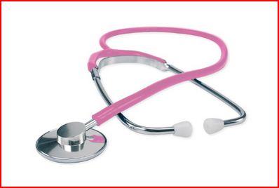 FONENDOSCOPIO CON TESTA IN ALLUMINIO - Rosa - Fonendoscopi e stetofonendoscopi