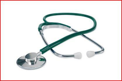 FONENDOSCOPIO CON TESTA IN ALLUMINIO - Verde - Fonendoscopi e stetofonendoscopi