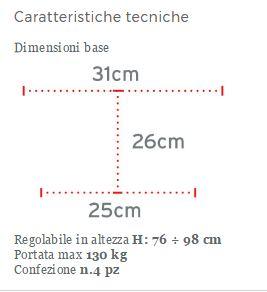QUADRIPODE CON APPOGGIO BRACHIALE  - Quadripodi in alluminio