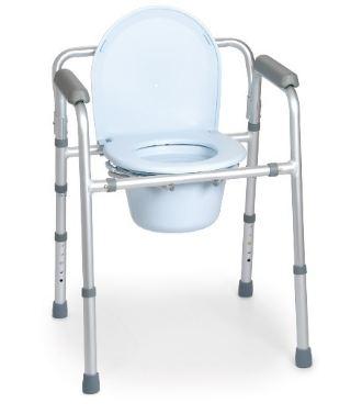 SEDIA COMODA 4 FUNZIONI IN UNA - PIEGHEVOLE E SMONTABILE - Rialzi stabilizzanti per WC