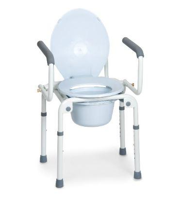 SEDIA COMODA 4 FUNZIONI IN UNA - BRACCIOLI RIBALTABILI - Rialzi stabilizzanti per WC