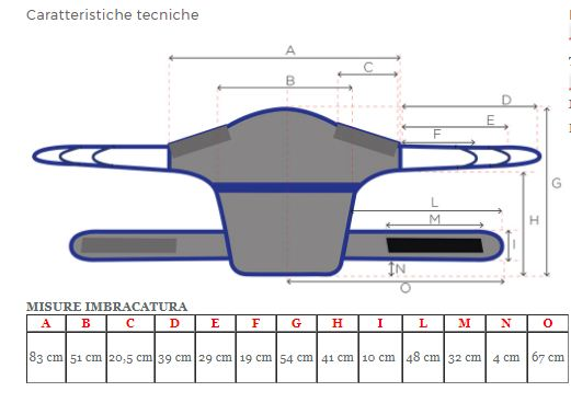 MODELLO DORSALE  - Imbracature per verticalizzatori
