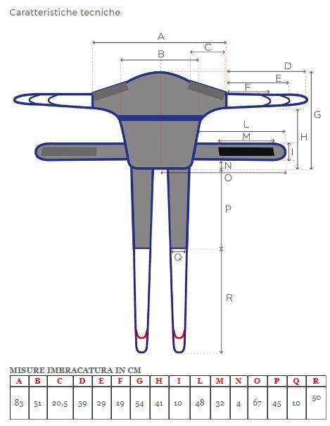 MODELLO PELVICA  - Imbracature per verticalizzatori