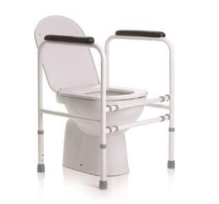 SOSTEGNO PER WC REGOLABILE IN ALTEZZA - ACCIAIO VERNICIATO - Sostegni per WC